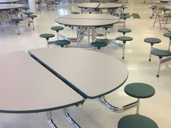 Hampshire High School Cafeteria Tables